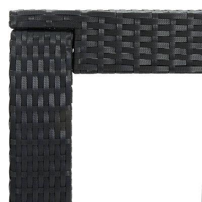 vidaXL Set de bar de exterior cu cotieră, 3 piese, negru, poliratan