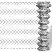 vidaXL Gard de legătură din plasă, argintiu, 25 x 1 m, oțel galvanizat