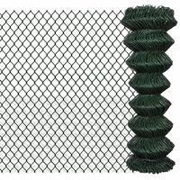 vidaXL  Gard de legătură din plasă, verde, 1,25 x 15 m, oțel