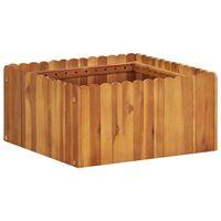 vidaXL Strat înălțat de grădină, 50 x 50 x 25 cm, lemn masiv de acacia