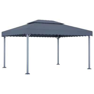 vidaXL Pavilion, antracit, 400 x 300 cm, aluminiu