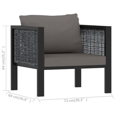 vidaXL Set mobilier de grădină cu perne, 5 piese, antracit, poliratan