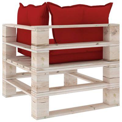vidaXL Set mobilier grădină din paleți, 8 piese, cu perne, lemn de pin