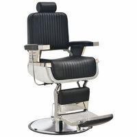 vidaXL Scaun frizer, negru, 68 x 69 x 116 cm, piele ecologică