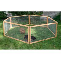 Kerbl Țarc animale de companie de exterior Vario, maro, lemn, 84399