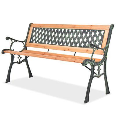 vidaXL Bancă de grădină, 122 cm, lemn