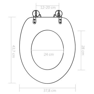 vidaXL Capac WC cu închidere silențioasă, MDF, design pietre
