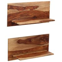 vidaXL Rafturi de perete, 2 buc., 58x26x20 cm, lemn masiv de sheesham
