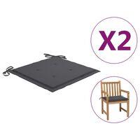 vidaXL Perne pentru scaun de grădină, 2 buc., antracit, 50 x 50 x 3 cm