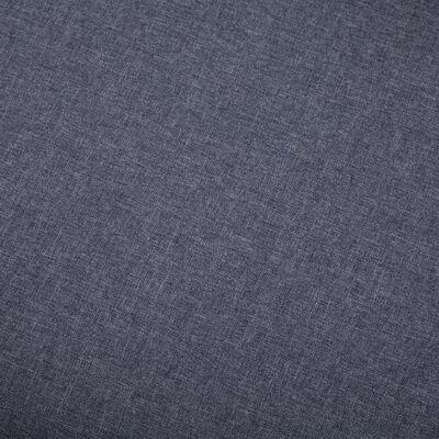 vidaXL Fotoliu cu taburet, gri închis, material textil