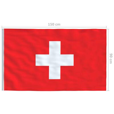 vidaXL Steag Elveția, 90 x 150 cm