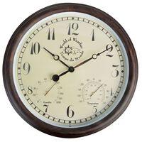 Esschert Design Ceas de gară cu termo-higrometru TF008, 30,5 cm