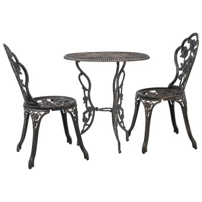 vidaXL Set mobilier bistro, 3 piese, aluminiu turnat