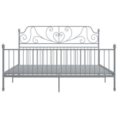 vidaXL Cadru de pat, gri, 180x200 cm, metal și placaj