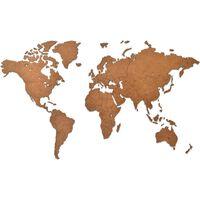 MiMi Innovations Decor perete harta lumii Luxury maro 90 x 54 cm lemn