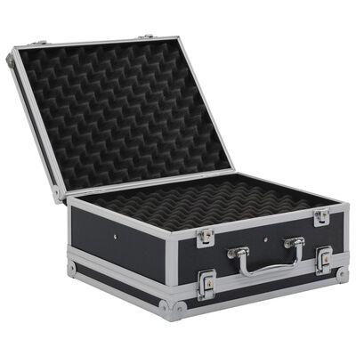 vidaXL Valiză pentru armă, negru, aluminiu ABS