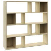 vidaXL Separator cameră/Bibliotecă, stejar Sonoma, 110x24x110 cm, PAL