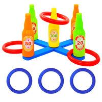 vidaXL Set joc cu aruncare de inele pentru copii, 42x42x23,5 cm