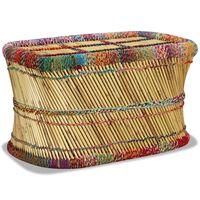 vidaXL Măsuță de cafea cu detalii chindi, multicolor, bambus