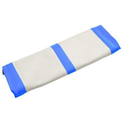 vidaXL Saltea gimnastică gonflabilă cu pompă albastru 700x100x20cm PVC