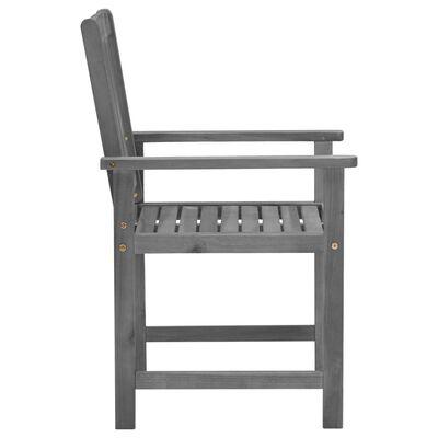 vidaXL Scaune regizor cu perne, 4 buc., gri, lemn masiv acacia