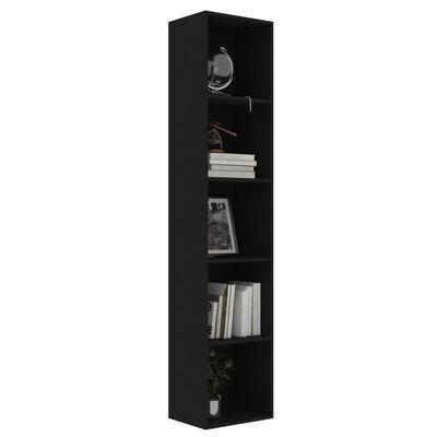 vidaXL Bibliotecă, negru, 40 x 30 x 189 cm, PAL
