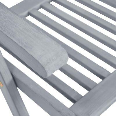 vidaXL Scaune de grădină rabatabile cu perne, 8 buc., gri, lemn acacia
