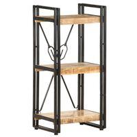 vidaXL Bibliotecă cu 3 niveluri, 40x30x80 cm, lemn masiv de mango
