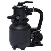 vidaXL Pompă cu filtru de nisip pentru piscină, supapă 7 poziții, 18 L