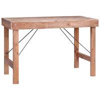 vidaXL Masă de bucătărie, 120 x 60 x 80 cm, lemn masiv reciclat