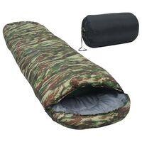 vidaXL Sac de dormit, camuflaj, 2000 g, -5 ℃
