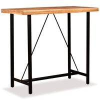 vidaXL Masă de bar, lemn masiv de acacia, 120 x 60 x 107 cm