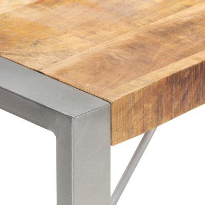 vidaXL Masă de bucătărie, 180x90x75 cm, lemn masiv de mango nefinisat