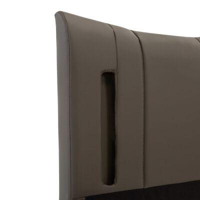 vidaXL Cadru de pat cu LED, antracit, 140 x 200 cm, piele ecologică
