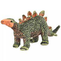 vidaXL Jucărie de pluș dinozaur Stegosaurus, verde și portocaliu XXL