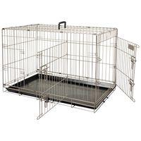FLAMINGO Cușcă pentru animale de companie Ebo maro metalic 77x47x55cm