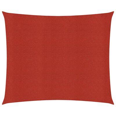vidaXL Pânză parasolar, roșu, 2,5x3 m, HDPE, 160 g/m²