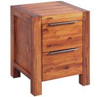 vidaXL Noptieră din lemn masiv de salcâm șlefuit 42 x 45 x 58 cm