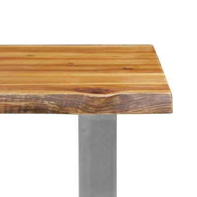 vidaXL Bancă 160 cm Lemn masiv de acacia și oțel inoxidabil