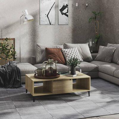 vidaXL Măsuță de cafea, stejar sonoma, 103,5x60x35 cm, PAL