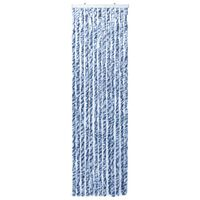 vidaXL Insect Curtain Blue and White 90x200 cm Chenille