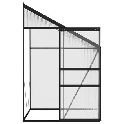 vidaXL Seră, antracit, 2,59 m³, aluminiu
