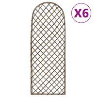 vidaXL Spaliere de grădină, 6 buc., 45x170 cm, salcie