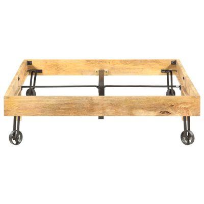 vidaXL Cadru de pat, 120 x 200 cm, lemn masiv de mango
