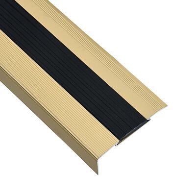 vidaXL Profile trepte în formă de L, 15 buc., auriu, 90 cm, aluminiu