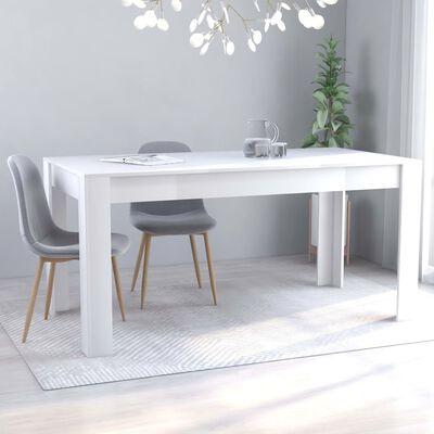 vidaXL Masă de bucătărie, alb, 160 x 80 x 76 cm, PAL