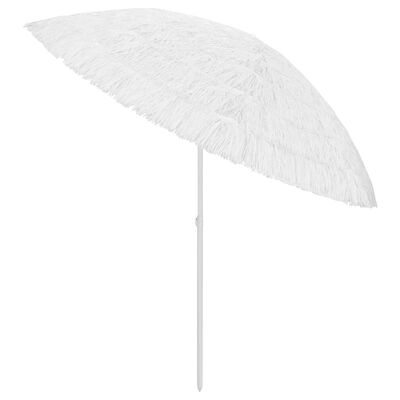 vidaXL Umbrelă de plajă, alb, 300 cm
