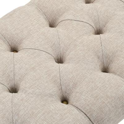 vidaXL Bancă depozitare, Lemn masiv și material textil 103x51x44 cm