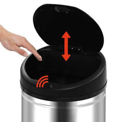 vidaXL Coș de gunoi automat cu senzor, 32 L, oțel inoxidabil