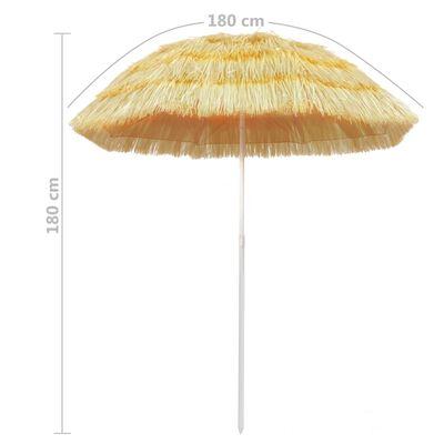 vidaXL Umbrelă de plajă, natural, 180 cm, stil hawaiian